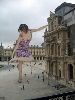 Alizee steps on tourist by Accasbel