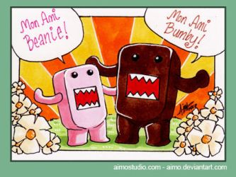 PSC - Domo-kun and Pink Domo by aimo