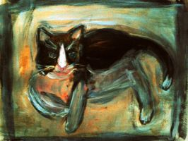 Three Legged Cat by CheBertrand