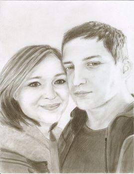 Pencil drawing of a couple by ChristianCowgirl116
