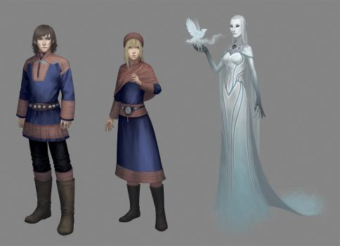 Snow Queen - The Characters by Evelar