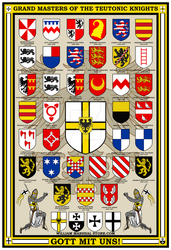 Teutonic Knights Grand Masters Poster by williammarshalstore