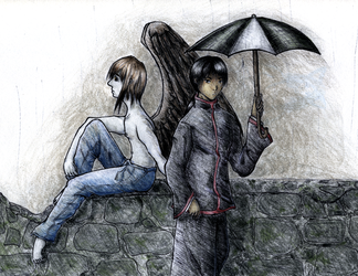 all the umbrellas in london by hokuto