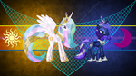 Crystalized Celestia and Luna by Laszl