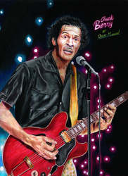 Chuck Berry (Colored pencil drawing) by Oscar-Manuel
