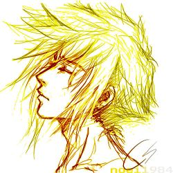 FFVII : Cloud Strife : I think by noei1984