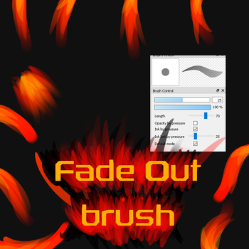 Free Fade Out brush for FireAlpaca/Medibang by Nuubles