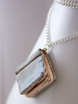 Beloved Book Pages... Necklace by NeverlandJewelry
