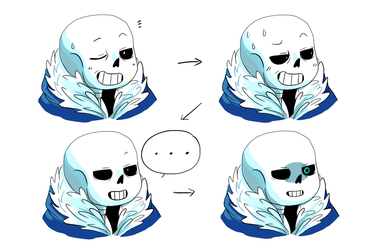 Sans has some comical expressions by Katrona