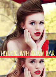 Holland Roden with brown hair by niaapierce