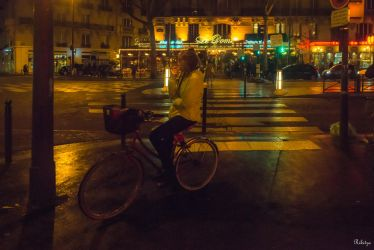 Paris the city of lights - waiting in the night by Rikitza