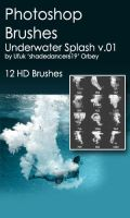 Shades Underwater Splash v.01 HD Photoshop Brushes by shadedancer619