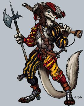 Sergal Landsknecht (Commission - BranTheSergal) by TheLivingShadow