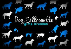 Dog Silhouette GIMP Brushes by annadigiovanni