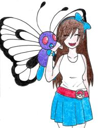 Renata and Butterfree by Hitomi-chan666