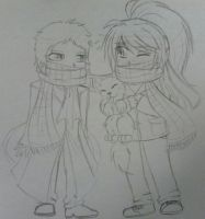 AkYou:Scarf Buddies by Solitary--Nightmare
