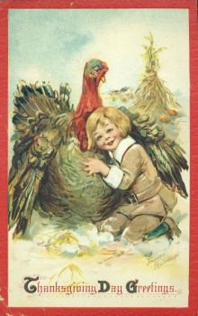 Image result for Thanksgiving postcard