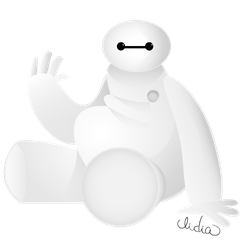 Baymax says hi by Lizeeeee