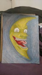 Mad laughing Moon coloured by Poorartman