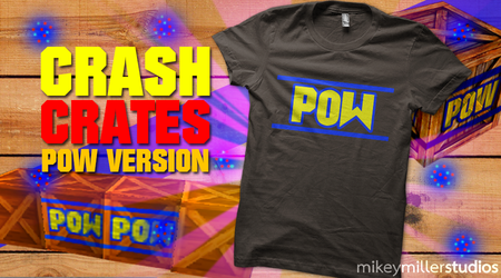POW Crate - Crash Bandicoot Crates tees by mikeym92