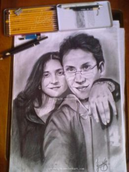 pencil drawing   'couple' by pxtferg20