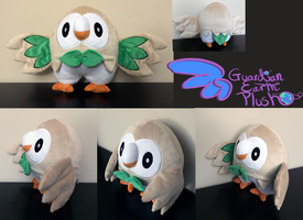 Pokemon Rowlet plush! Mokuroh Plush! 11'' SOLD by GuardianEarthPlush