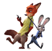 Zootopia Judy Hopps and Nick Wilde Transparent by Lab-pro