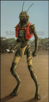 District 9 Christopher color by Sythgara