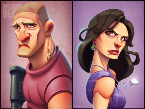 The Walking Dead: Shane and Lori by ubegovic