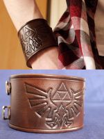 The Legend of Zelda Leather Cuff by TheSerotonin