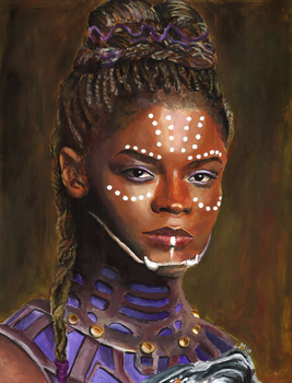 Shuri (acrylic paint) by MayTheForceBeWithYou