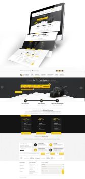 Proffesional Hosting Web Design by vasiligfx