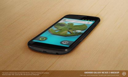 Android Galaxy Nexus 3 Mock-up PSD by azispradana