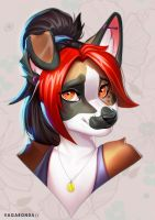 Headshot commission for Lightikea by vagab0nda