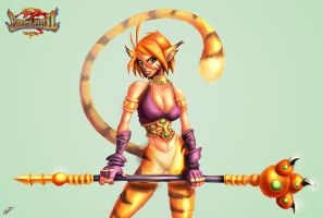 Katt - Breath of Fire 2 by derekblairart