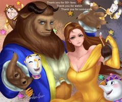 beauty and the beast - Thank you!! by zenkanjia