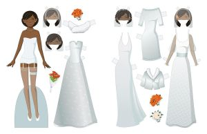 Wedding Paper Doll by juliematthews