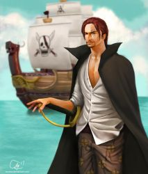 Red Haired SHANKS by andicahyow