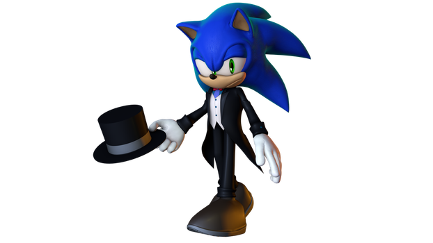 sonic ready for a night on the town by gabrielgt12