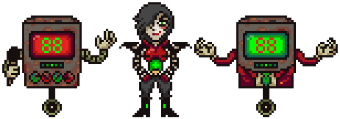 [Undertale Pixelart] Infinitized MTT by Dustier-and-Dustier