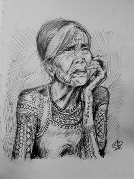 Whang Od Quick Sketch - Speed Drawing by dbcalag
