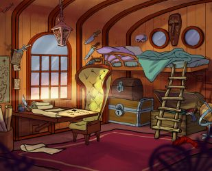 Pirate's room by tin-sulwen
