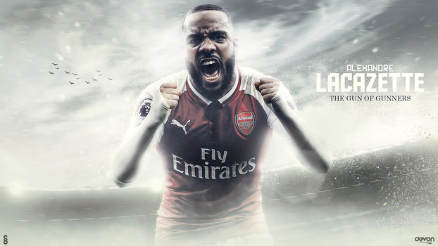 Alexandre Lacazette Wallpaper 2017 by workoutf