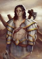 Aydin - Valiant Warrior (final artwork) by PhaethonGames