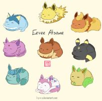 Loafin Eevees by L-Y-N-S