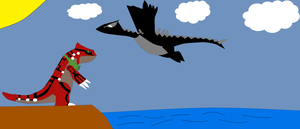 Brais the Groudon and Drake the Lugia by GamerDragon165