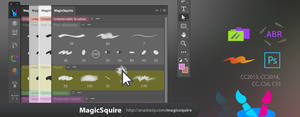 MagicSquire 1.0, organize brushes in groups in PS by Anastasiy