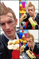 Zell Dincht Cosplay Over-Eating in Japan Expo 2013 by LeonChiroCosplayArt