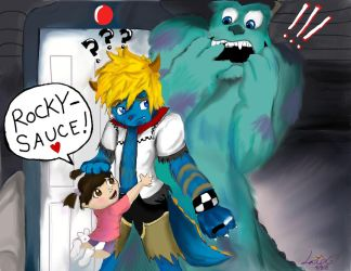 Roxas Scares Because He Cares by Checker-Bee