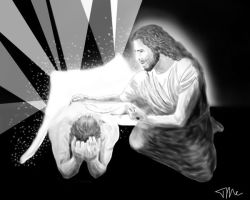 Jesus Covers Us with Grace by teddiem